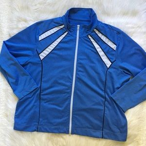 Oleg Cassini Blue and White Sports Jacket